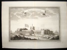 Prevost C1750 Antique Print. Cap Corse British Fort, West Africa